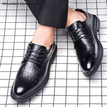 Mountain Conqueror Men Formal Shoes Split Leather Oxford For Black Dress Wedding Brogues New
