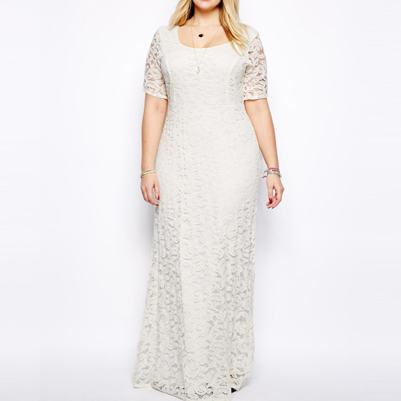 MEVGOHOT Woman High Waist Plus Size Long Lace Dress Pleated Elegant Large Size Pleated Maxi Dress 4xl <font><b>5xl</b></font> <font><b>6xl</b></font> <font><b>7xl</b></font> <font><b>8xl</b></font> <font><b>9xl</b></font> HAA018 image