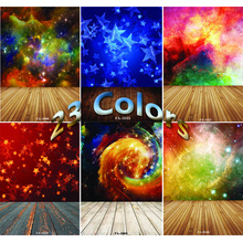 Vinyl Custom Photography Backdrops Prop  Space Starry Sky and floor Theme Photography Background FA20419-12 цена 2017