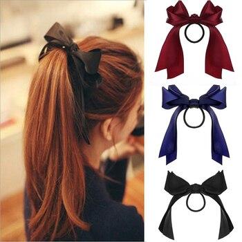 KINFOLK Bows Headband Hair Accessories For Women Fashion Rubber For Hair Girls Elastic Hair Bands ponytail holder Headbands