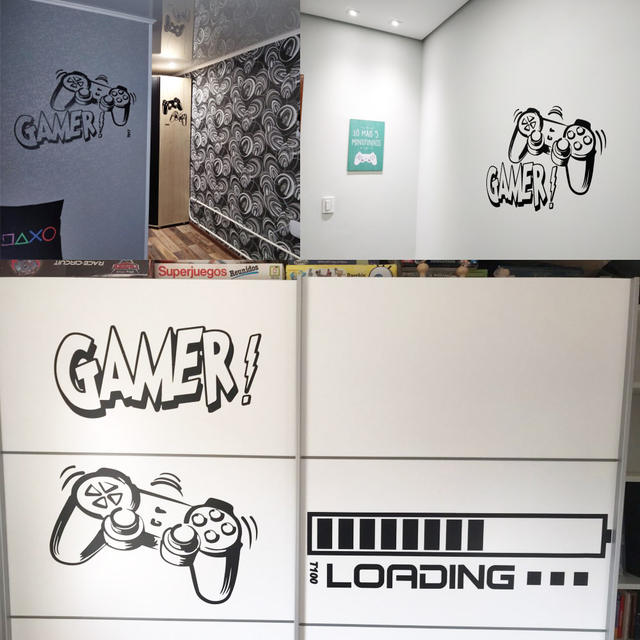 Decorative Stickers for Room Wall Murals Kids Bedroom Decoration Gaming Poster Wallpaper