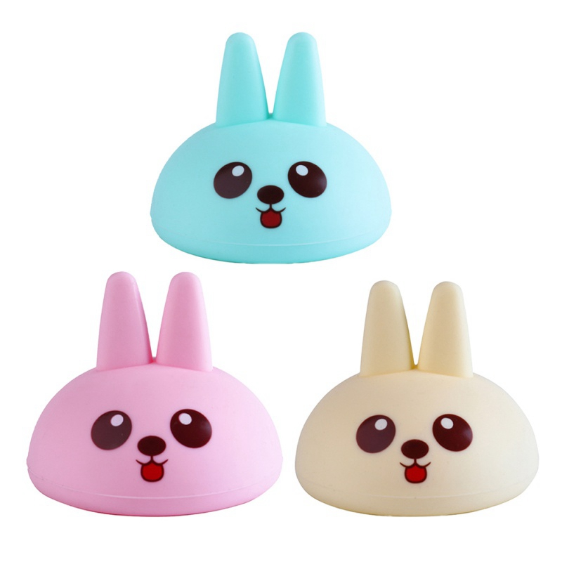 Cute Cartoon Rabbit Silicone Sputum Cup Patting Kids Elder Back Pat Silicone Cup Filming Auxiliary Burp Pat Back Baby Care Tools