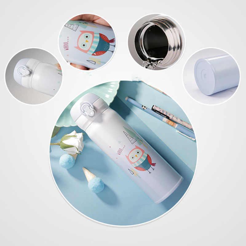 ZOOOBE Thermocup 350/450ml Parede Dupla Frascos de Vácuo do Aço Inoxidável Garrafa Térmica Copo Caneca do Curso de Chá de Leite de Café Thermo para as crianças