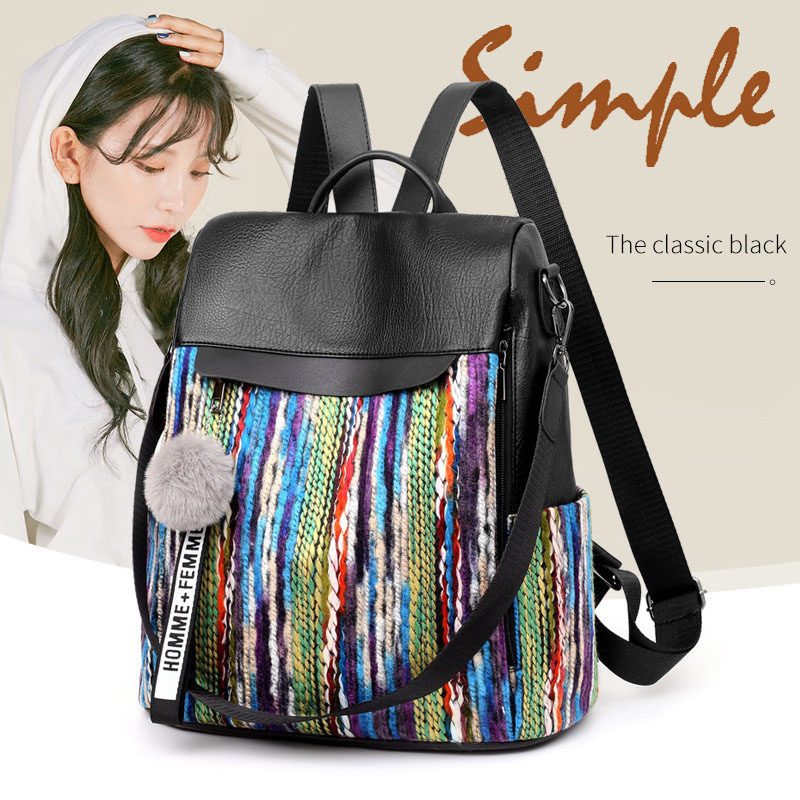 Backpack Women Fashion Pu Anti-theft Waterproof  Wear-resistant Outdoor Travel Bagpack Female Designer Backpacks High Quality