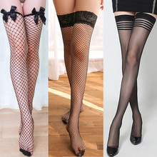 2pair Lace/Bowknot/Stripe Sexy Women's Stocking Stay Up Thigh High Stockings Hosiery Hollow Out Mesh Nets Fishnet Stockings