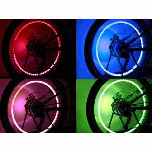 4pcs LED Auto Car Wheel Light  Car Wheel Tyre Tire Valve Stem Cap Light Lamp Bulb Decoration 2