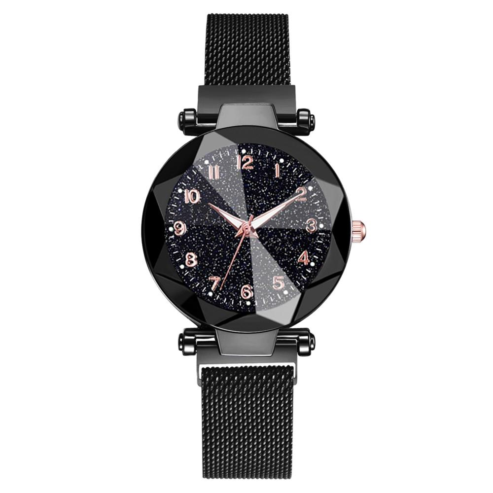 Watches Women Fashion Luxury Stainless Steel Magnetic Buckle Strap Refractive surface Luminous Dial Ladies Quartz Watch