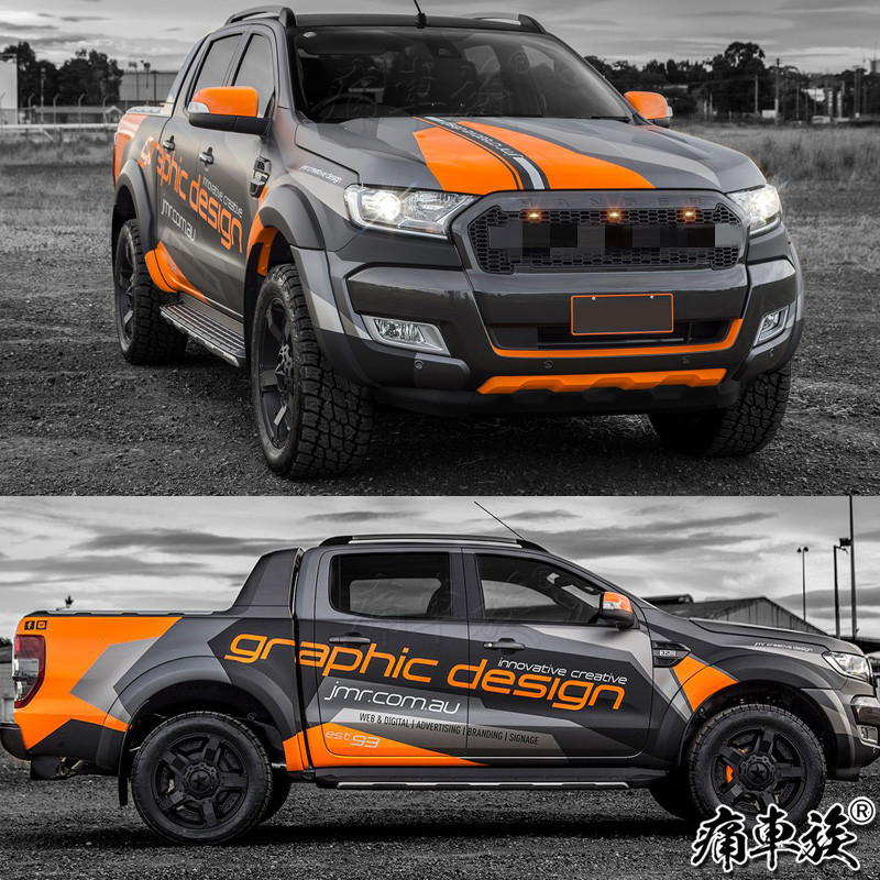 Car Stickers For Ford Raptor F150 Ranger Body Appearance Decoration Modified Decals Ranger F-150 Car Film