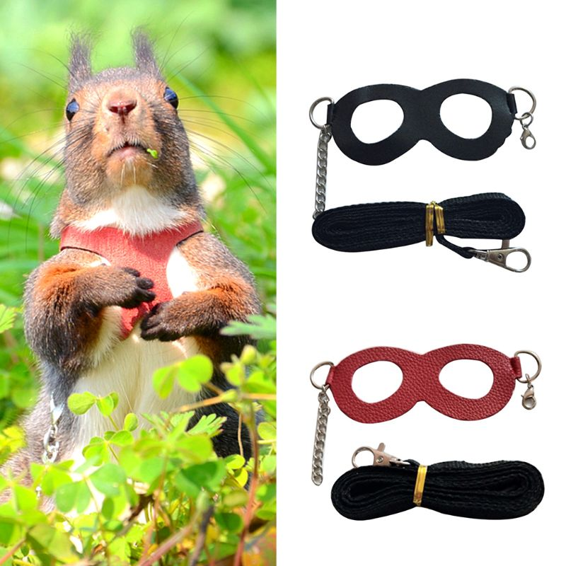 Hamster Chinchilla Mouse Rat Squirrel Harness Anti-knot Anti-biting Strap Split Traction Rope Small Pet Training Leash C42