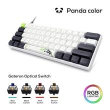 В наличии/Skyloong GK61 SK61 механическая клавиатура на русском и панда USB Проводная RGB подсветкой Gateron переключатель оси для настольных ПК, ноутбуко...