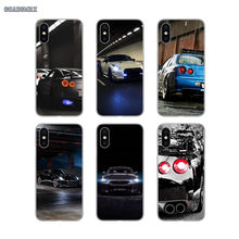 Transparent Soft Cases Covers Car Nissan GTR Soft Silicone For iPhone 11 X XR XS Pro MAX 4 4S 5 5S SE 5C 6 6S 7 8 Plus(China)