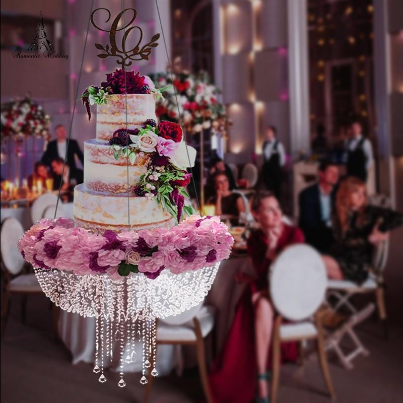 Романтическая Свадебная искусственная хрустальная люстра стиль драпировка подвесной торт качели торт стенд