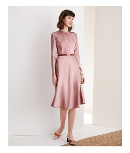Image 4 - High grade acetate satin dress elegant aging Pink