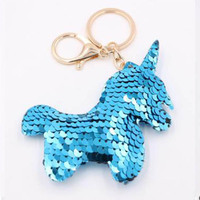 Hot sale color Christmas tree stars sequins key ring pendants Glowing tree car ornaments Christmas small gifts