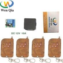 DC 12V 10Amp 2200W 1CH commutateur de télécommande universel sans fil récepteur relais carte pour rf 433MHz ouvre porte électrique à distance