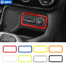 MOPAI ABS Car Cigar Lighter Decoration Frame Cover Trim for Jeep Renegade 2015 2016 Interior Accessories Stickers Car Styling