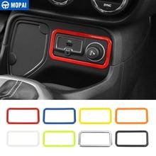 MOPAI ABS سيارة ولاعة السيجار الديكور غطاء إطاري تقليم ل Jeep Renegade 2015 2016 الداخلية اكسسوارات ملصقات السيارات التصميم