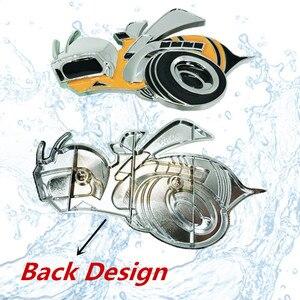 Image 5 - 1 adet Tuning araba evrensel Metal süper arı araba çamurluk yan çıkartmalar dodge challenger aksesuarları Hemi SRT araba aksesuarları
