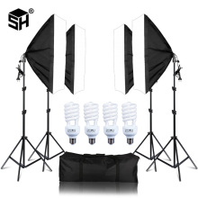 Photo Studio 4PCS LED 20W Softbox Kit Photographic Lighting Kit Camera & Photo Accessories Light Stand Softbox for Camera Photo