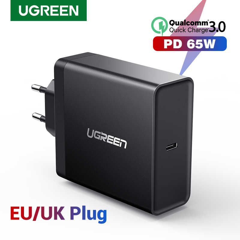 Ugreen pd 65 w carregador usb tipo c carregador para apple macbook ar ipad pro samsung asus acer tablet carregador para nintendo switch