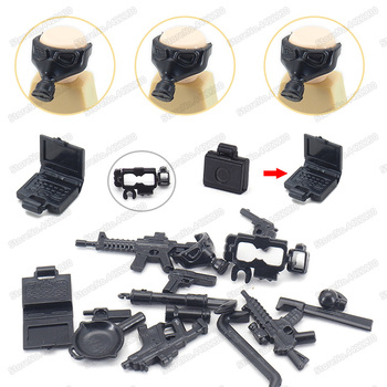 Military Equipment Weapons Building Block Assemble Artillery Special Force Figures Moc WW2 Army Soldier Model Christmas Gift Toy