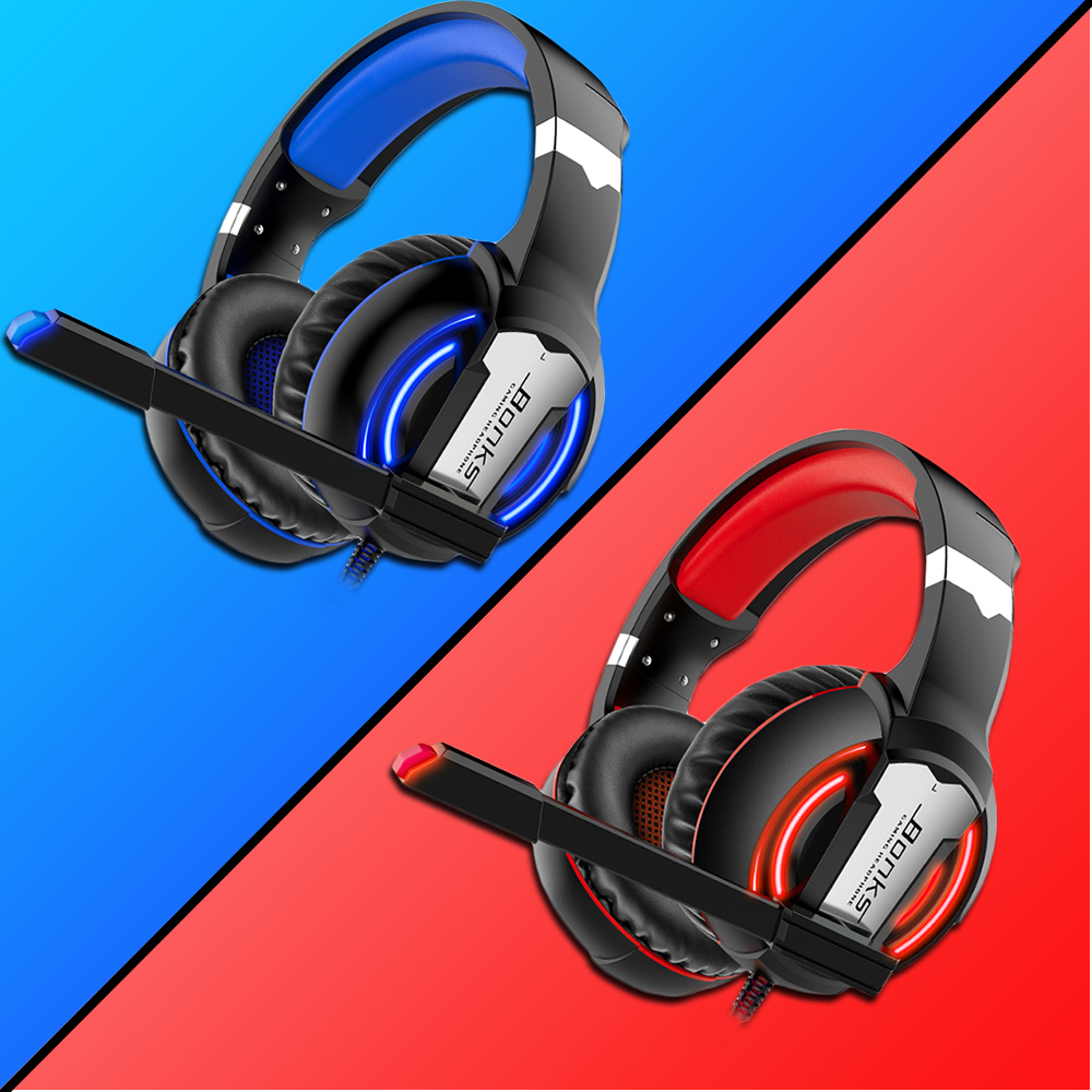 Gaming Headset Headphones with Microphone Light Surround Sound   Bass Earphones For PS4 Xbox One Professional Gamer PC Laptop 1