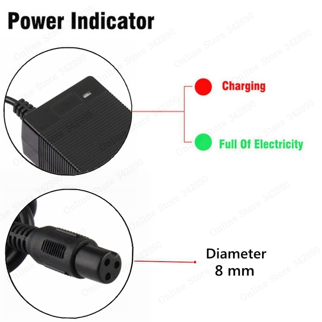 42V 1.5A Universal Battery Charger, 100-240VAC Power Supply for Self Balancing Scooter hoverboard charger UK/EU/US/AU Plug