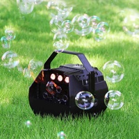 15W Mini Portable LED Electric Bubble Machine Wedding Party Effect Light Wireless Remote Control Outdoor Fun Toy DJ Bar