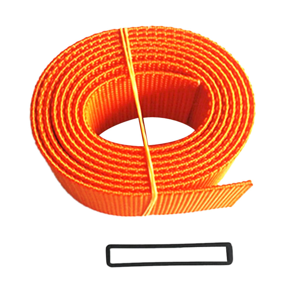 Professional Scuba Diving Snorkeling Weight Belt Webbing Waist Strap Orange