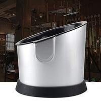 Black Liner Coffee Tamper Knock Box Deep Bent Design Coffee Slag Isn'T Splash Manual Coffee Grinder Accessories|Coffee Filters| |  -