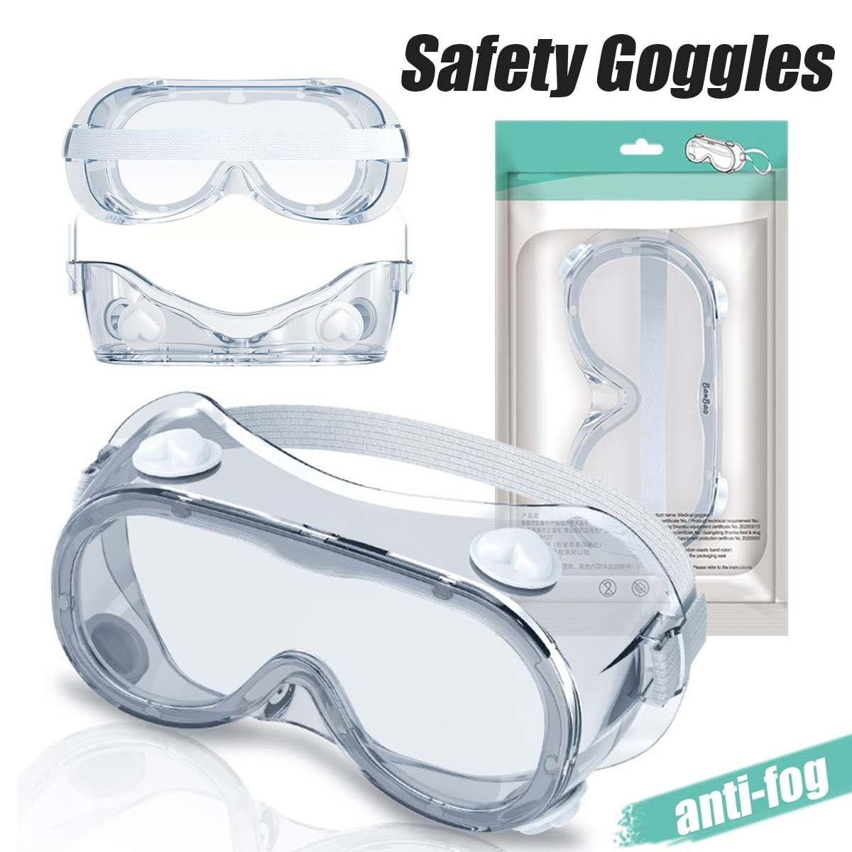 Medical Safety Goggles Fully Enclosed Lens Goggles Eye Protective Glasses Anti-Fog Antisand Dust Splash-proof Resist UV Light