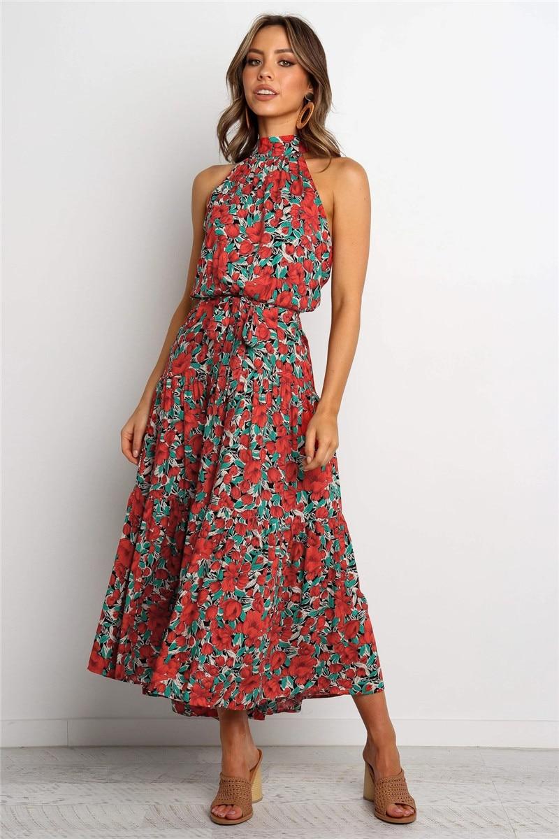 halter midi boho summer dress12