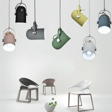 цена LED Pendant Light Nordic Creative Style Lamp Restaurant Bar Clothing Store Background Track Hanging Light Bedroom Decor Bar Club онлайн в 2017 году