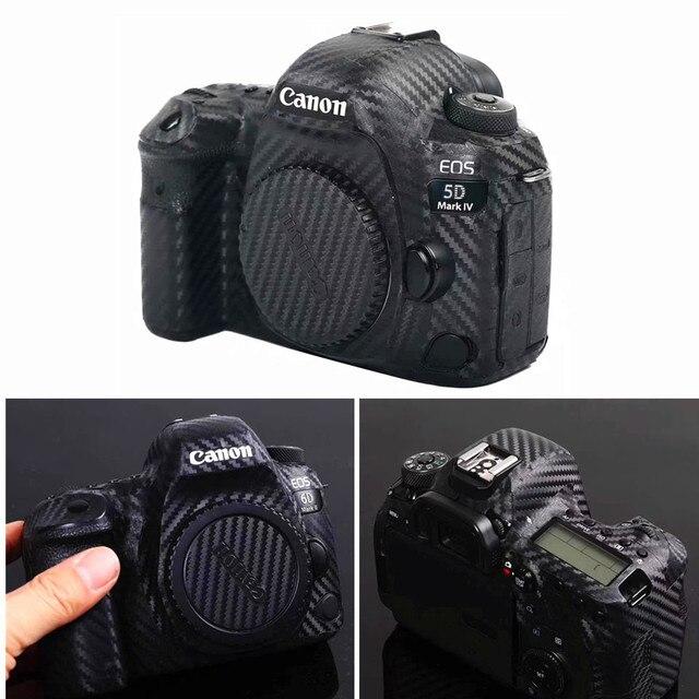 Korpus aparatu skóra ochronna naklejki z włókna węglowego Film dla Canon EOS R5 R6 800D 250D 200D 80D 90D 5Ds 5D III IV 6D II SL3 SL2 T7i
