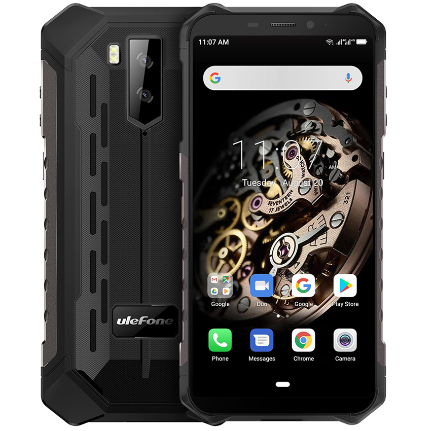 "Ulefone Armor X5 5000mAh NFC ip68 shockproof mobile phone Android 9.0 5.5"" Octa-core 3GB + 32GB Unlocked 4G Rugged Smartphone"