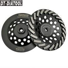 DT-DIATOOL 2 stücke Dia180mm/7 zoll M14 Verbindung Segmentiert Diamant Turbo Reihe Tasse Schleifen Rad Für Beton Granit Marmor- stein