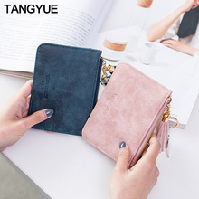 Mini Women's Wallet Female Leather Slim Cute Thin Ladies Coi