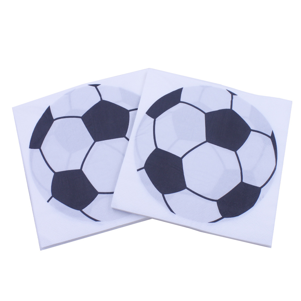 [Currently Available] Football Printed Napkin Kleenex Party Paper World Cup Party Bar Restaurant Decoration