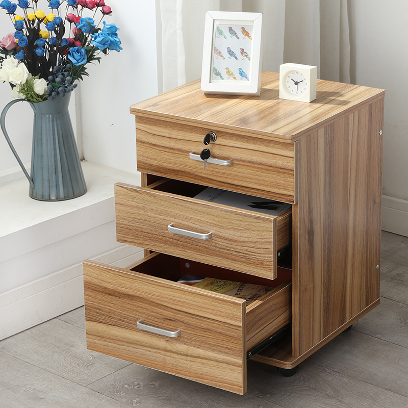 File Cabinet With Locks, Drawer, Data Cabinet, Movable Floor Cabinet, Storage Cabinet