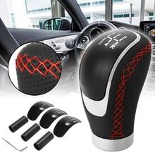 5 6 速度ユニバーサル Pu レザーギアシフト 96 × 50 ミリメートルマニュアル車のギアスティックシフトノブセット耐久性のある交換車の内装部品