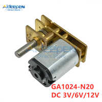 GA1024-N20 Mini DC Reduction Gear Motor DC 3V 6V 12V 5/10/15/20/30/50/60/100/150/200/300/400/500RPM 100RPM Gear Motor For Toy