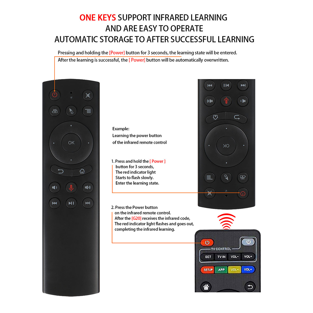 L8star G20S 2.4G Wireless Air Mouse Gyro Voice Control Sensing Universal Mini Keyboard Remote Control For PC Android TV Box 3