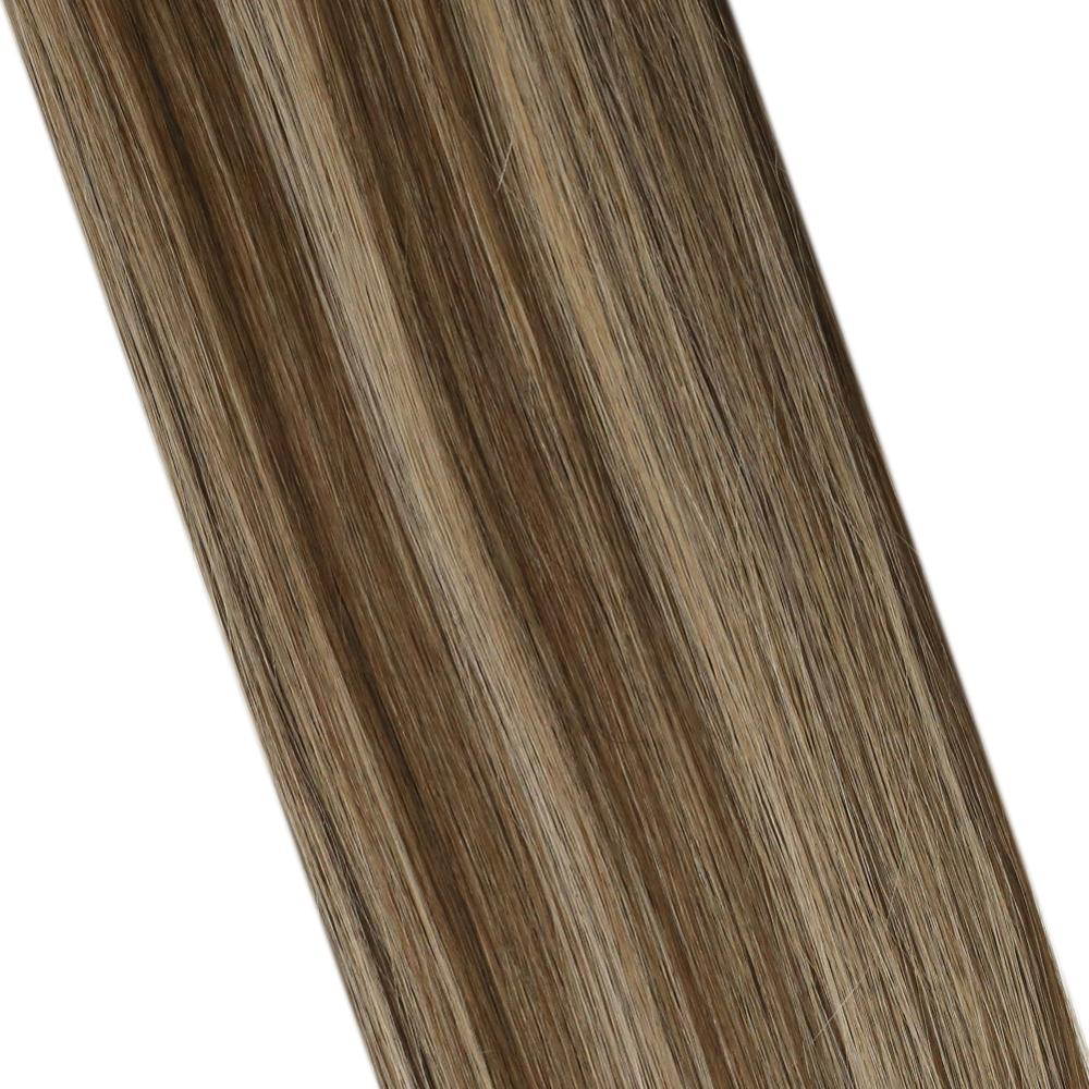 Ugeat Clip Hair Extensions Natural Hair Real Human Hair 14-24inch 120g/7Pcs Machine Remy Hair Balayage Clip ins
