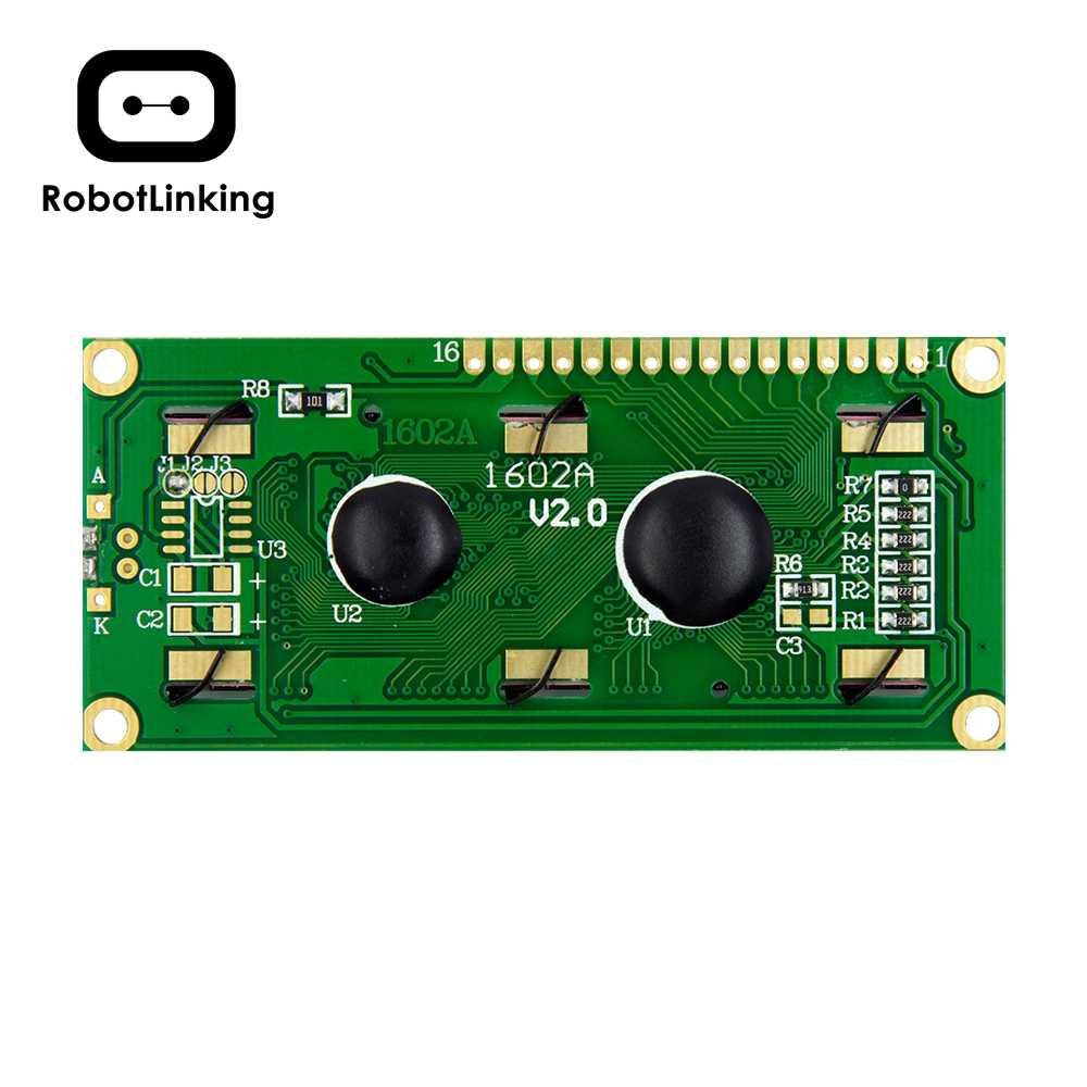 Module LCD moniteur d'affichage 1602 5V écran jaune vert et Code blanc pour arduino UNO 2560 Raspberry PI Board