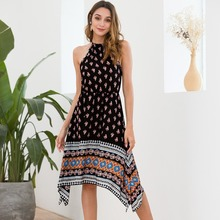 Sexy Women Dress Floral Print Summer Dresses for Bohemian Style Beach Holiday Club