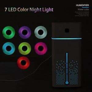 Image 3 - Humidificateur dair à ultrasons diffuseur muet 7 couleur veilleuse 1000ML Mini aromathérapie diffuseurs Cool brumisateur fabricant maison purificateur