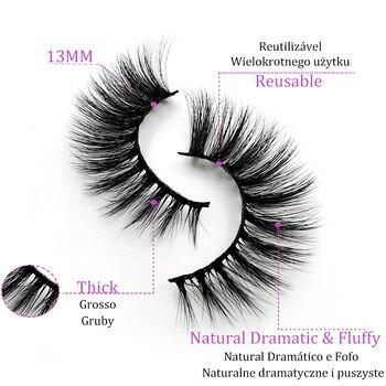 5 Pairs Multipack 3D Mink Lashes False Eyelashes Handmade Wispy Fluffy Long Lashes Natural Eye Makeup Tools Eye Lashes G806 3