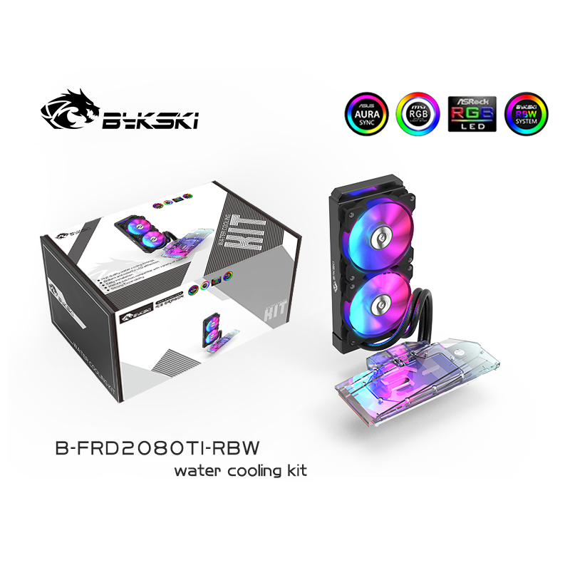Integrated Type GPU Block With 240 Radiator Water Cooling System Aio Cooler For Nvidia Rtx 2080TI / 2080 / 2070 Bykski Kit