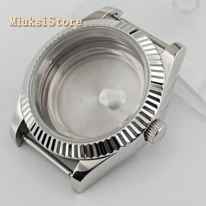 Image 1 - Parnis 41mm Sapphire Silver นาฬิกา Fit ETA 2836, miyota 8205 8215 82 Series Mingzhu DG2813 3804 การเคลื่อนไหว