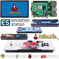 Arcade Console 2 Players Classic Retro Games Raspberry Pi 4 Model B(1G Ram Edition) ES Retropie 40+ Emulators 128G 14000+ Games